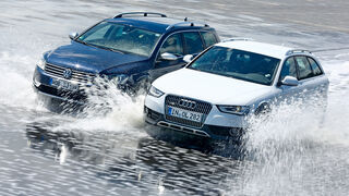 VW Passat Alltrack 2.0 TDI 4Motion, Audi A4 Allroad Quattro 2.0 TDI, Wasserdurchfahrt