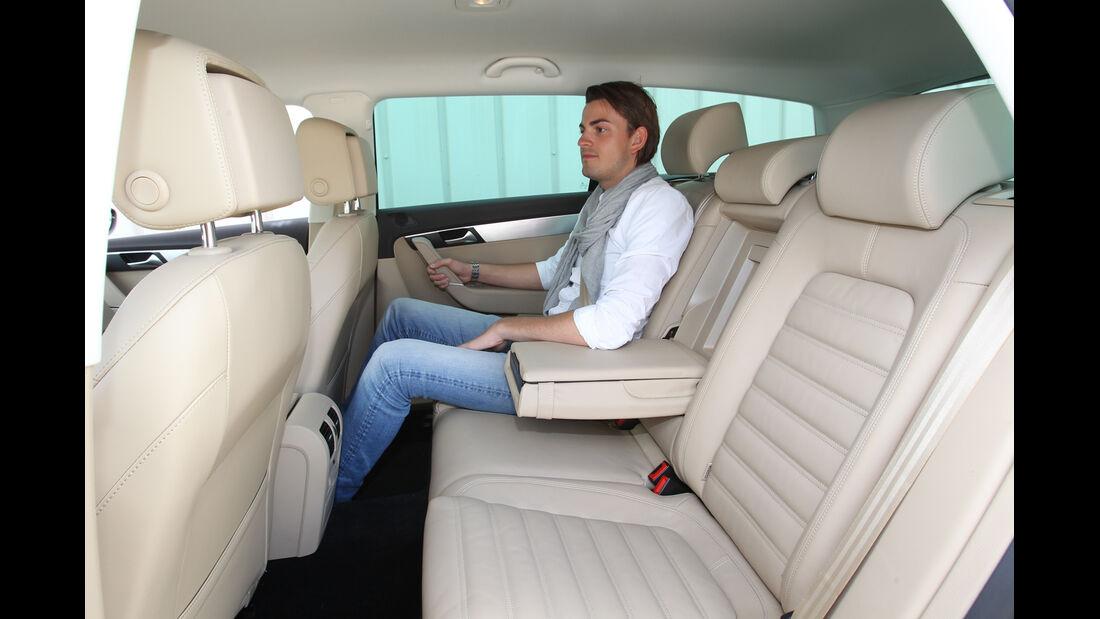 VW Passat Alltrack 2.0 TDI 4Motion, Rücksitz, Beinfreiheit