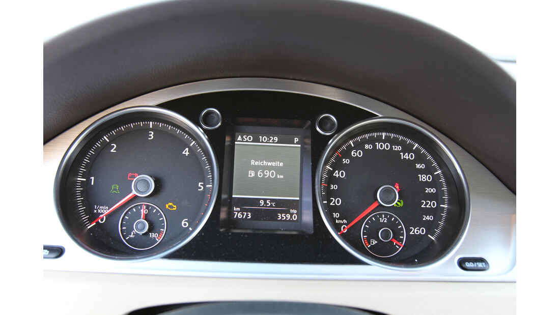 VW Passat Alltrack 2.0 TDI 4Motion, Rundinstrumente, Tacho