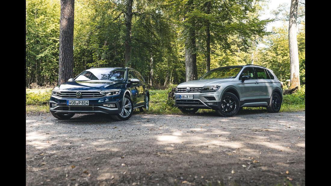 VW Passat Alltrack 2.0 TDI 4Mtotion, VW Tiguan Offroad 2.0 TDI 4Motion, Exterieur