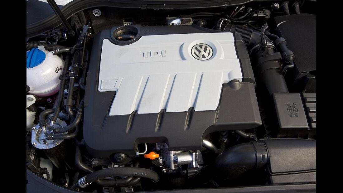 VW Passat Blue TDI Motor