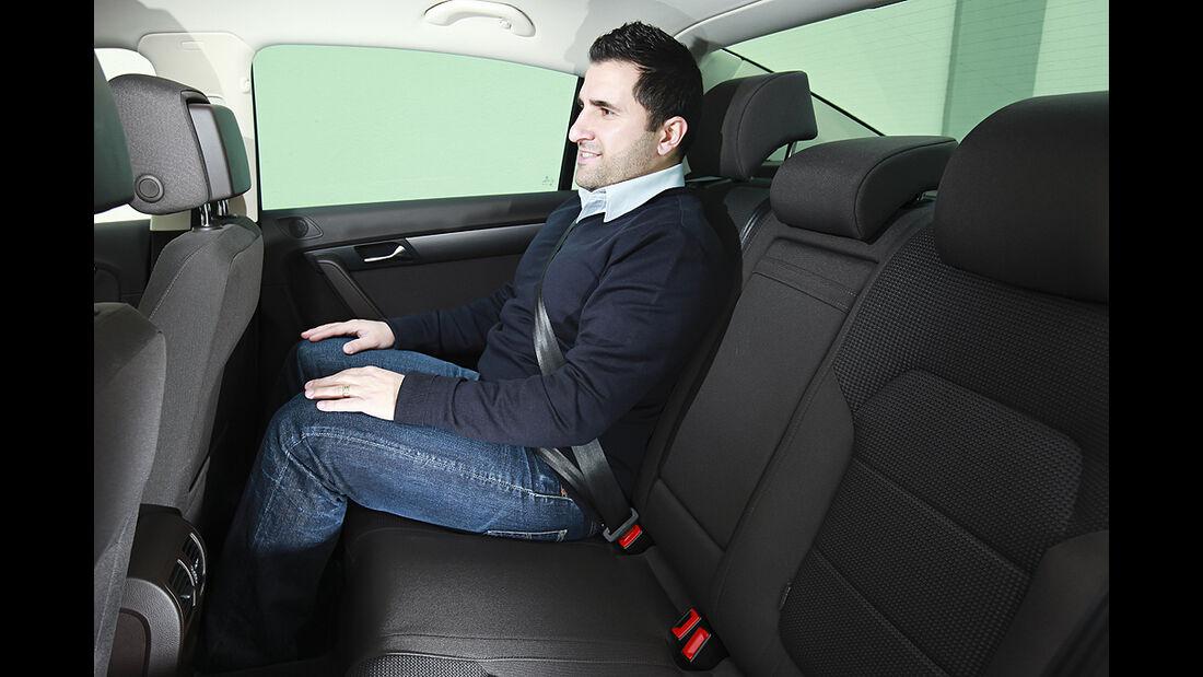 VW Passat Eco Fuel, Rückbank