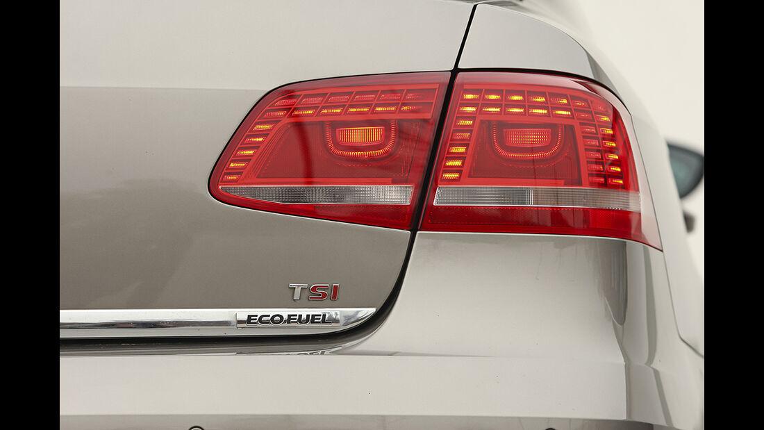 VW Passat Eco Fuel, Rückleuchte, Eco Fuel-Schriftzug