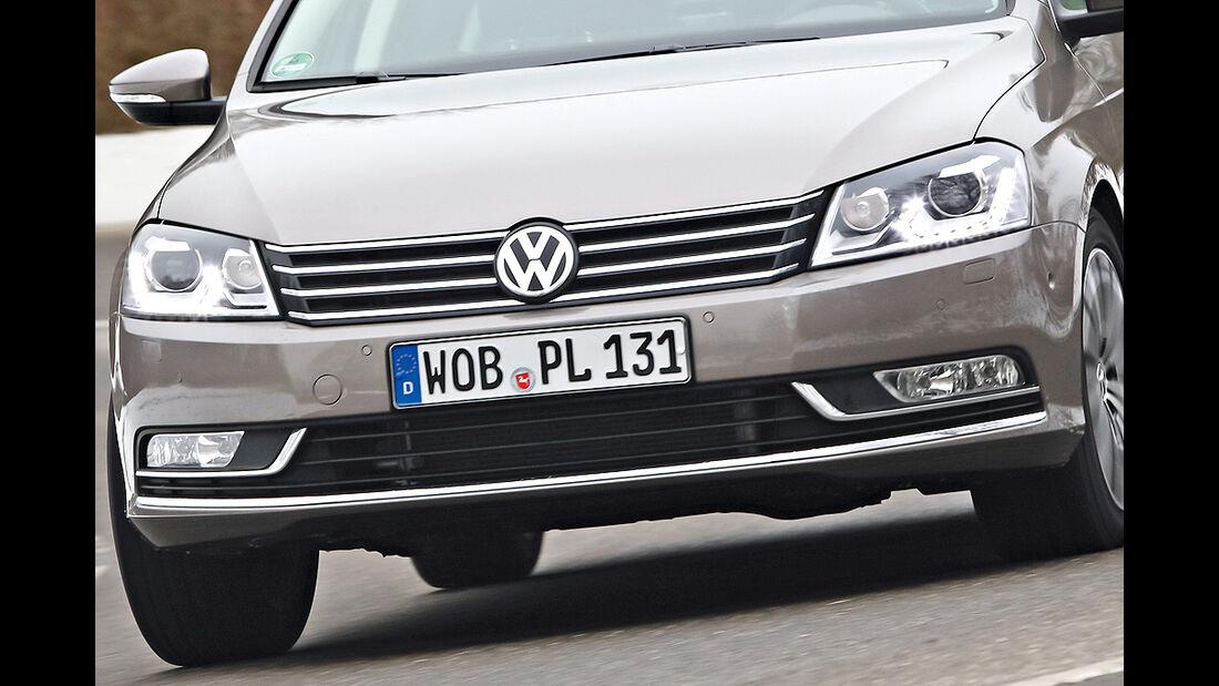 VW Passat Eco Fuel, Scheinwerfer, Kühlergrill