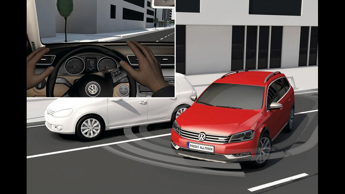 VW Passat, Einpakren