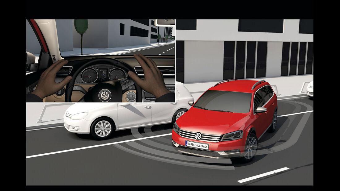 VW Passat, Einparken
