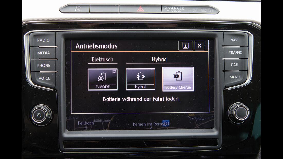 VW Passat GTE, Anzeige, Infotainment