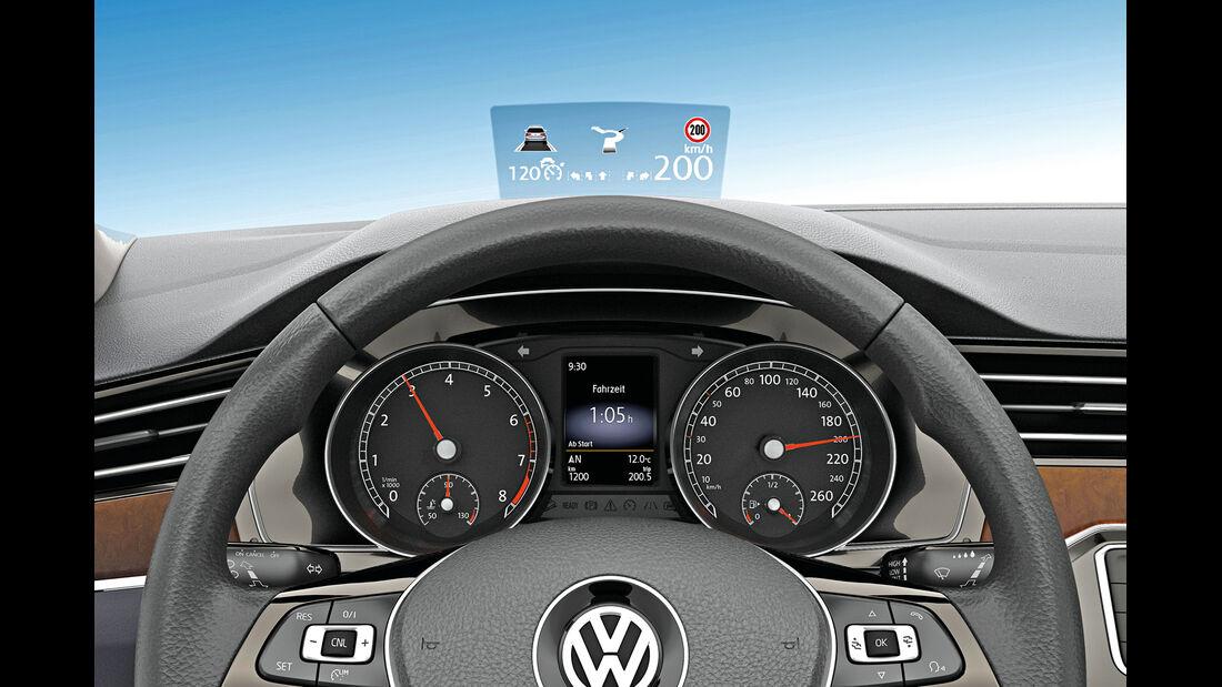 VW Passat, Head-up-Display