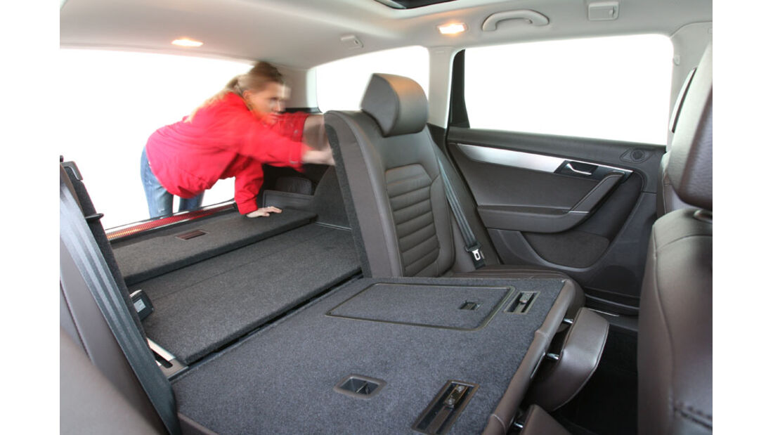 VW Passat, Kofferraum, Fond