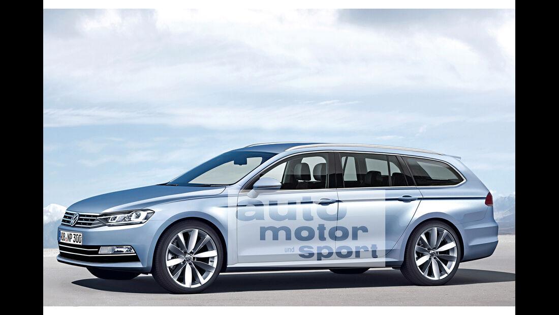 VW Passat, Seitenansicht