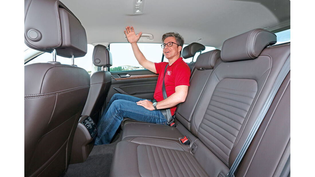VW Passat Variant 2.0 TDI 4Motion, Fondsitz, Beinfreiheit