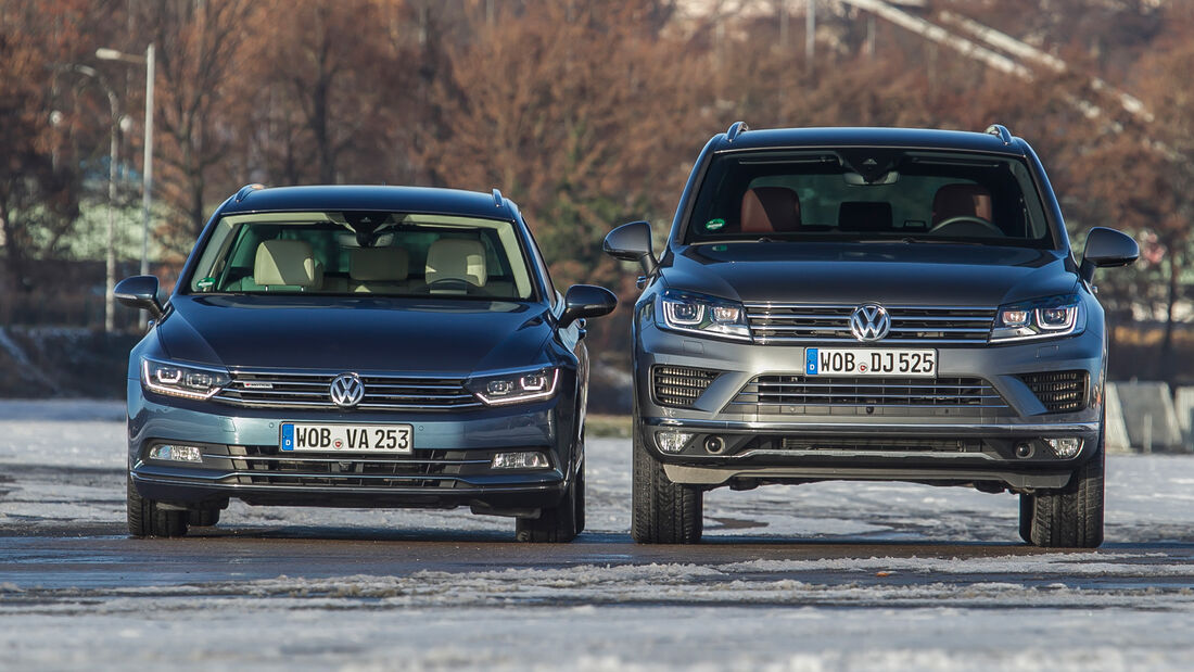 VW Passat Variant 2.0 TDI 4Motion Highline, VW Touareg V6 TDI 4Motion