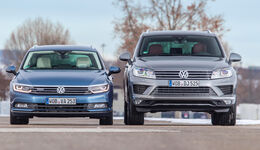 VW Passat Variant 2.0 TDI 4Motion Highline, VW Touareg V6 TDI 4Motion