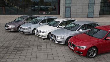 VW Passat Variant 2.0 TDI Highline, BMW 320d Touring Sportline, Audi A4 Avant 2.0 TDI Ambition