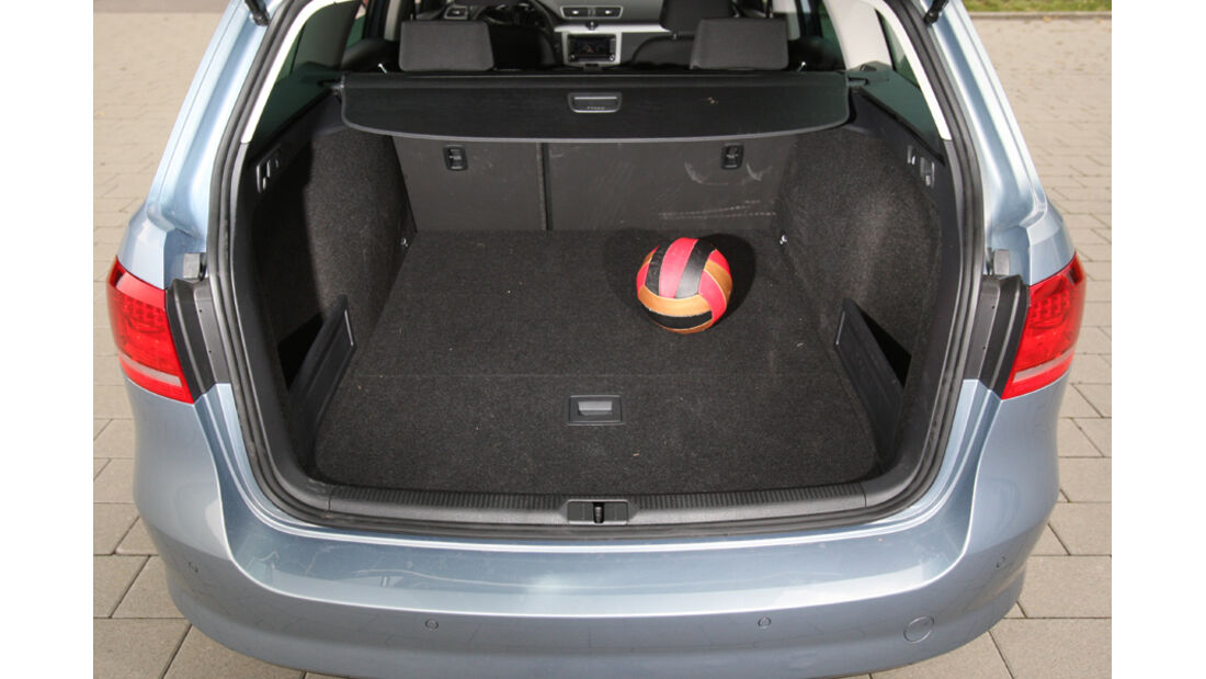 VW Passat Variant BlueMotion, Kofferraum, Ladefläche