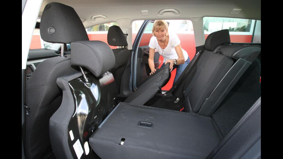 VW Passat Variant BlueMotion, Rücksitz, umklappen