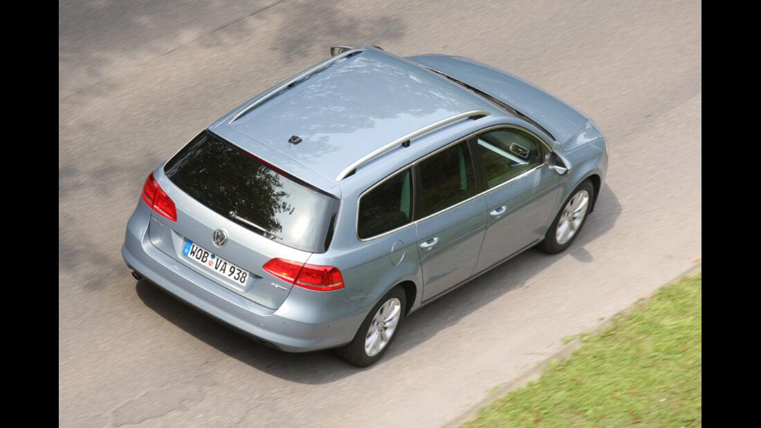 VW Passat Variant BlueMotion, von oben, Heck