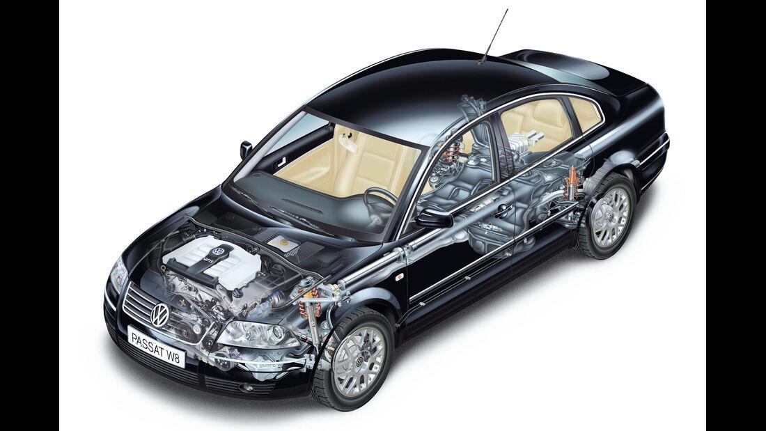 VW Passat W8, Durchsicht
