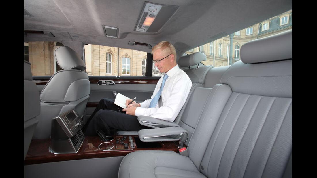 VW Phaeton, Fond, Innenraum, Einzelsitze