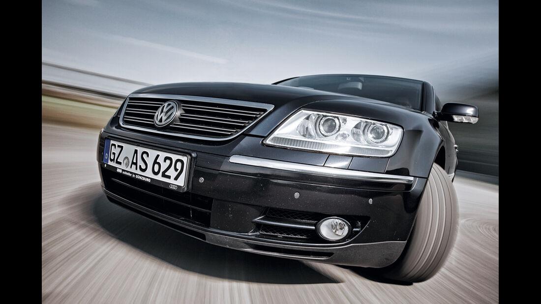 VW Phaeton V10 TDI Motion, Frontansicht, Kühlergrill