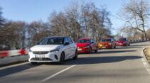 VW Polo 1.0 TSI, Renault Clio Tce 100, Opel Corsa 1.2 DI Turbo, Suzuki Swift 1.0 BJ Hybrid, Exterieur