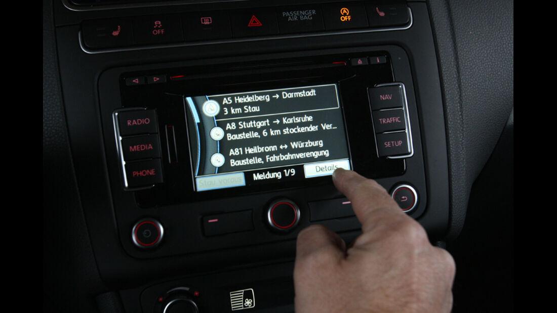 VW Polo 1.2 BMT, Infotainment-Display