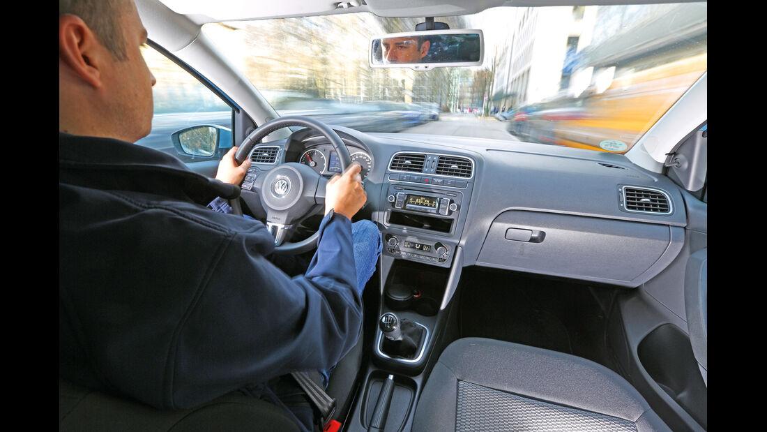 VW Polo 1.2 TDI Blue Motion 87G, Cockpit, Fahrer