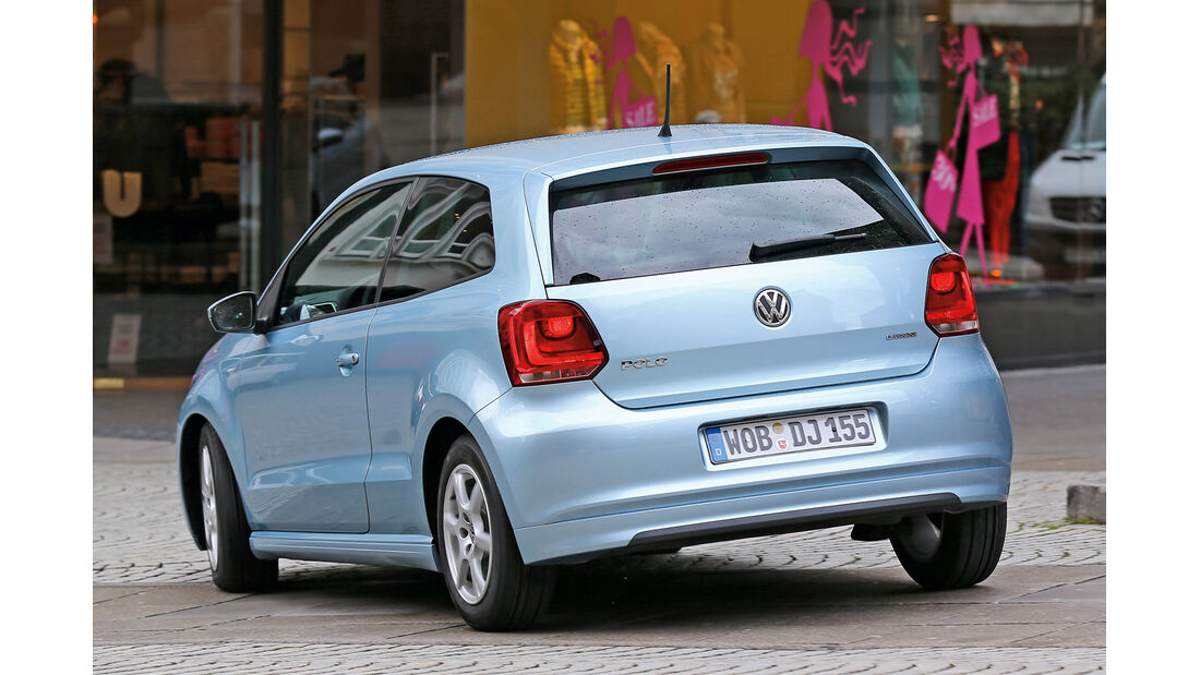 VW Polo 1.2 TDI Blue Motion 87G, Heckansicht
