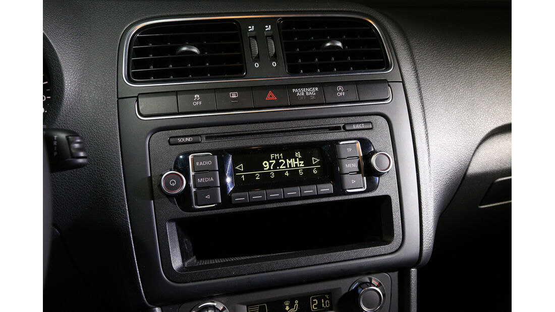 VW Polo 1.2 TDI Blue Motion 87G, Mittelkonsole