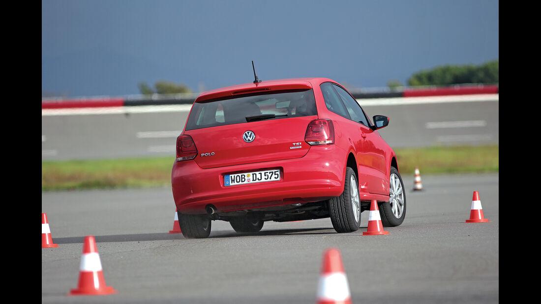 VW Polo 1.2 TSI BMT, Handlingtest, Heckansicht