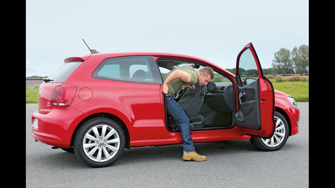 VW Polo 1.2 TSI BMT, Rückbank, aussteigen