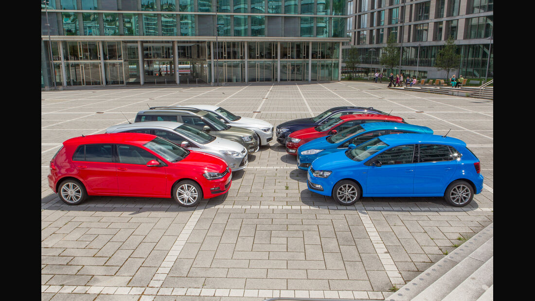 VW Polo 1.2 TSI, VW Golf 1.2 TSI, Seitenansicht