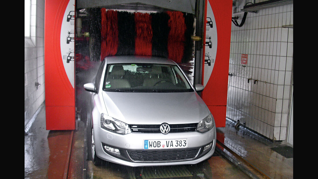 VW Polo 1.2 TSI, Waschstraße