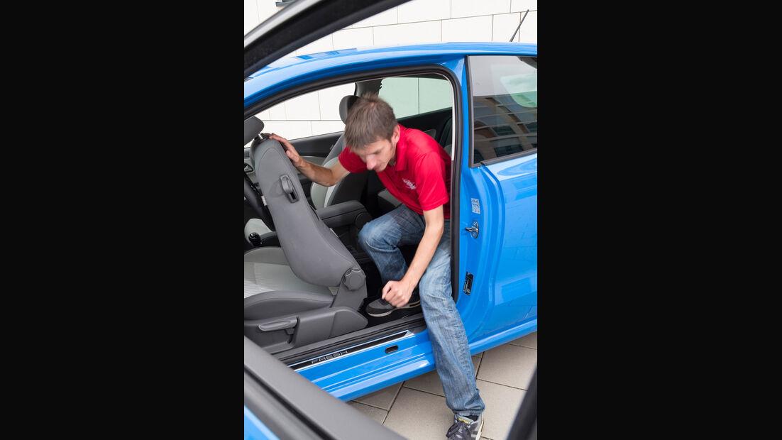 VW Polo 1.4 TDI Blue Motion, Fondsitz, Aussteigen