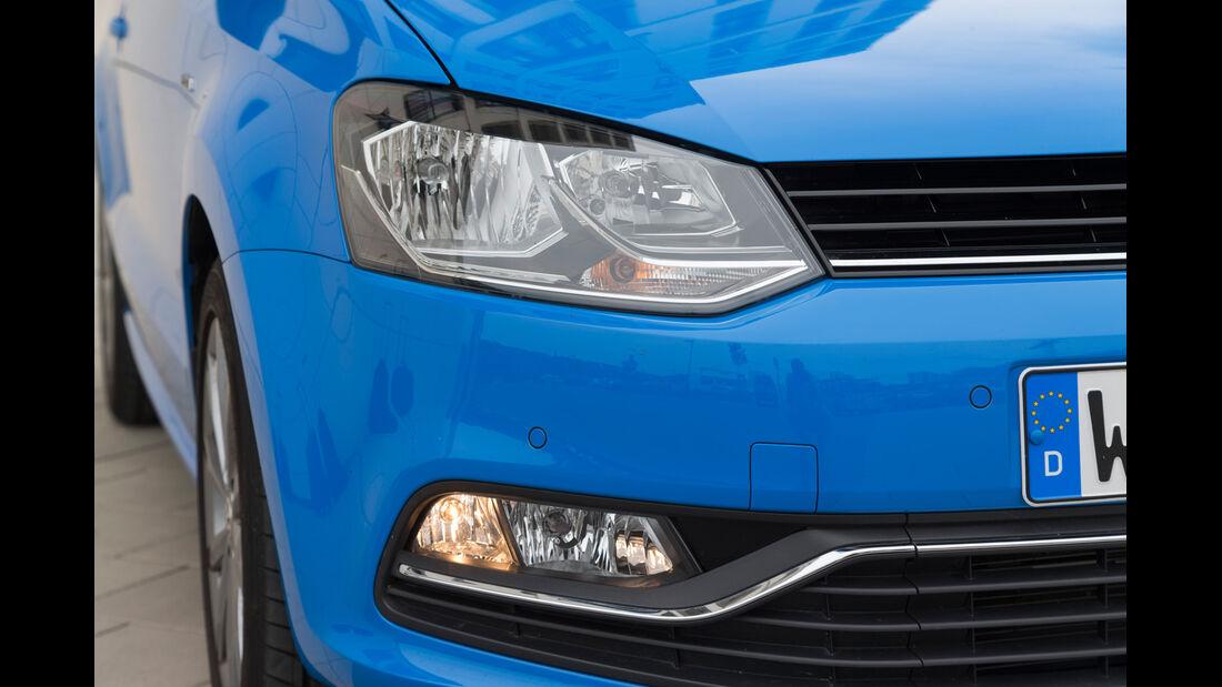 VW Polo 1.4 TDI Blue Motion, Frontscheinwerfer