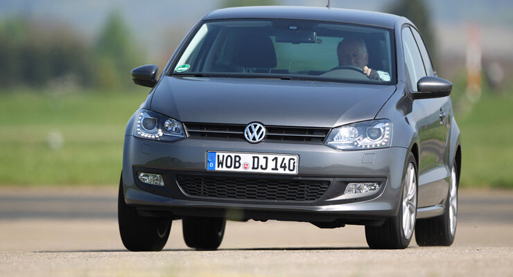 VW Polo 1.6 BiFuel, Frontansicht, Fahrt