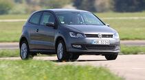VW Polo 1.6 BiFuel, Frontansicht, Kurve
