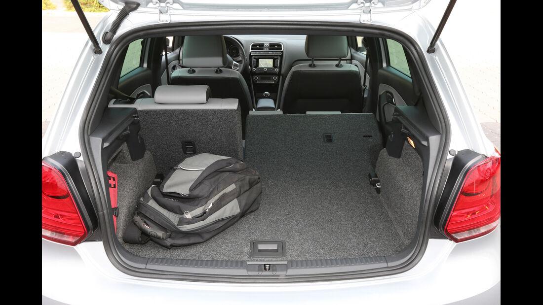 VW Polo Blue GT, Kofferraum, Ladefläche