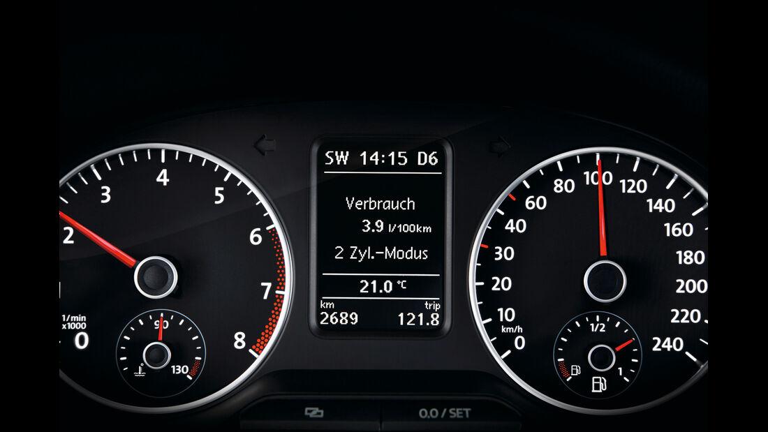 VW Polo Blue GT, Tacho, Rundinstrumente