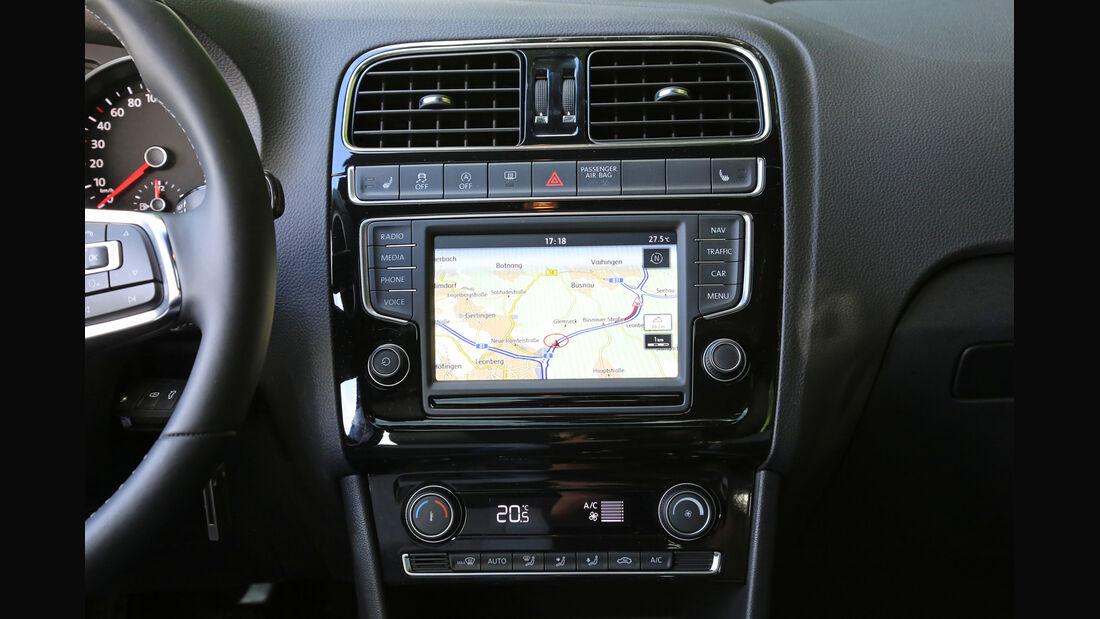 VW Polo BlueGT, Mittelkonsole
