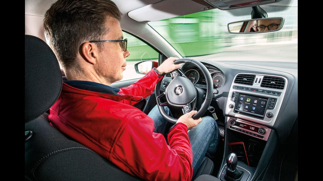 VW Polo, Cockpit, Fahrersicht