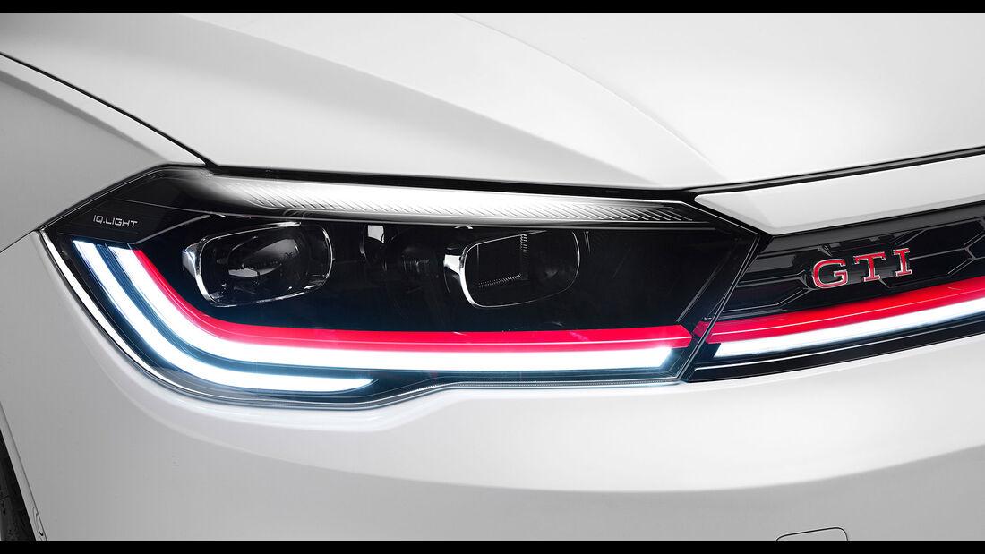 VW Polo GTI (2021) Polo 6 Typ AW Facelift IQ Light LED Scheinwerfer Pure White Uni