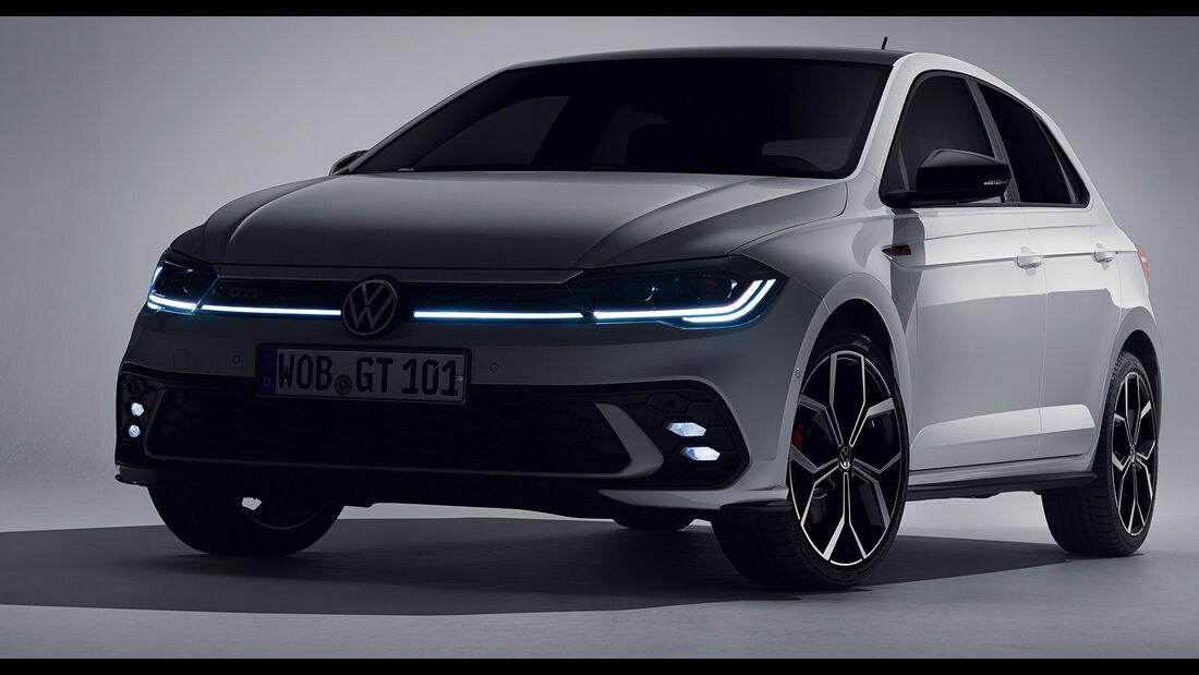 VW Polo GTI (2021) Polo 6 Typ AW Facelift Teaser Pure White Uni