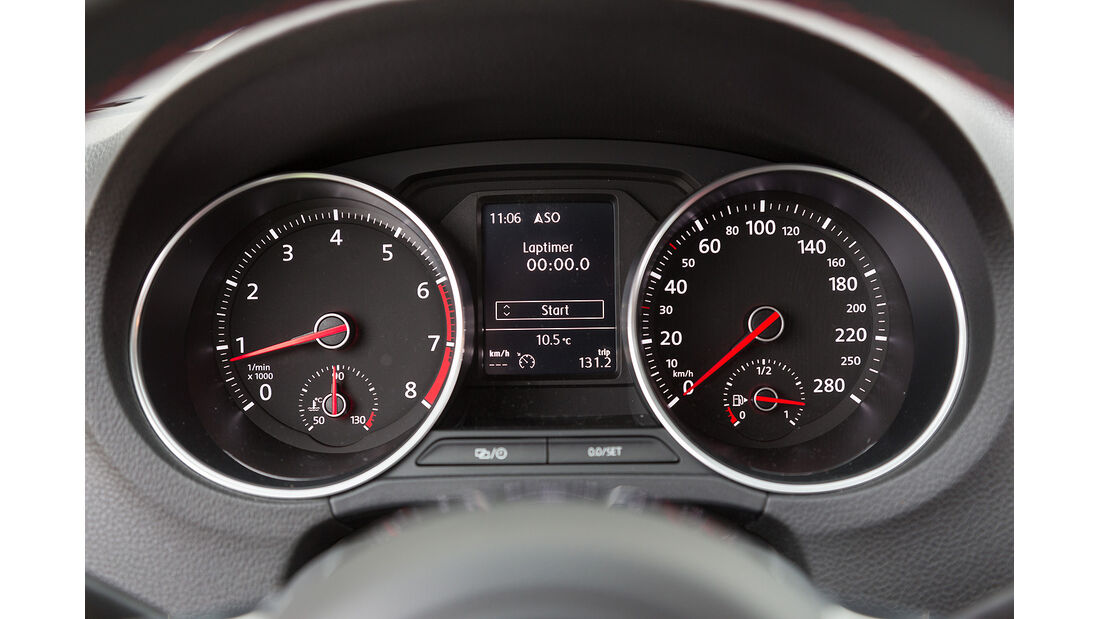 VW Polo GTI, Cockpit, Instrumente