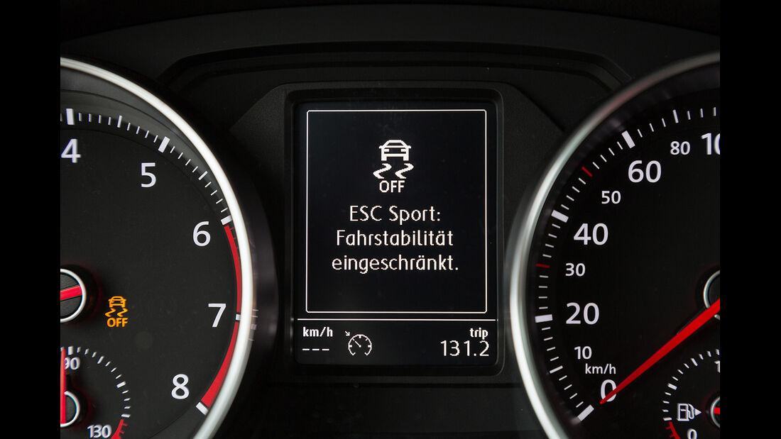 VW Polo GTI, Cockpit, Instrumente, Zusatzdisplay