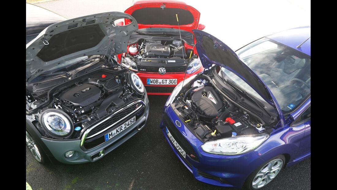 VW Polo GTI, Ford Fiesta ST, Mini Cooper S, Motor