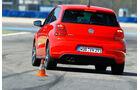 VW Polo GTI, Heckansicht, Slalom