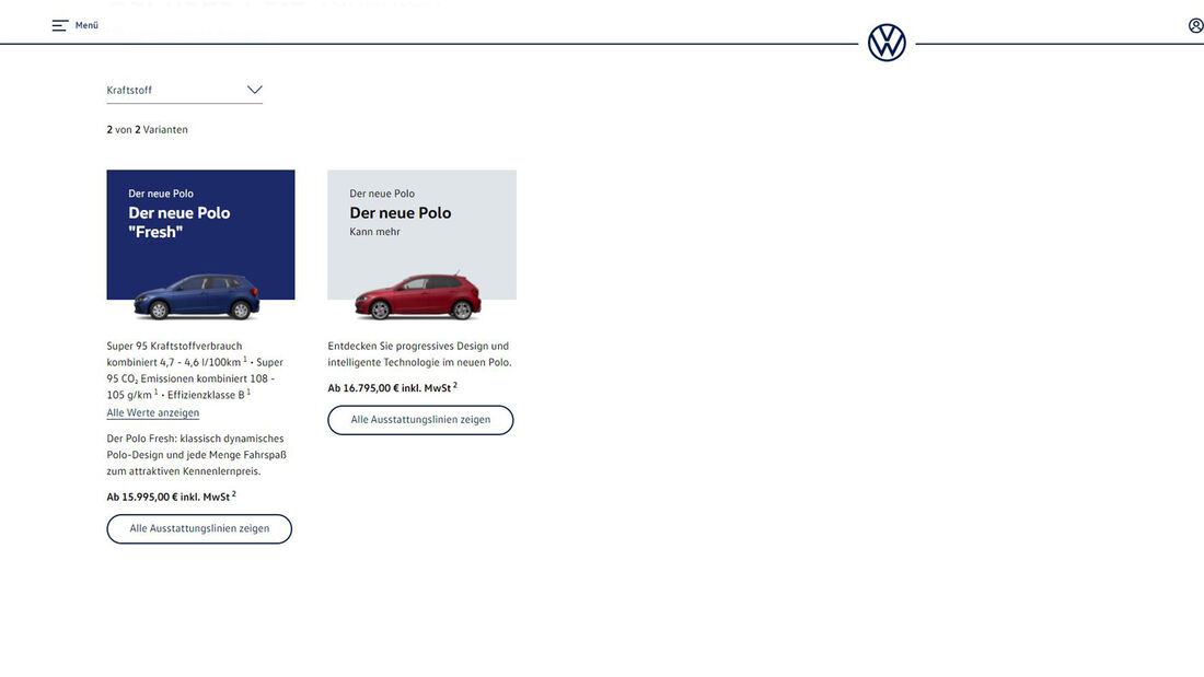 VW Polo Konfigurator 2021