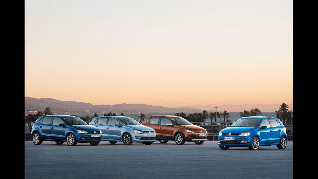 VW Polo Modellfamilie 2014, Sperrfrist 24.02.2014