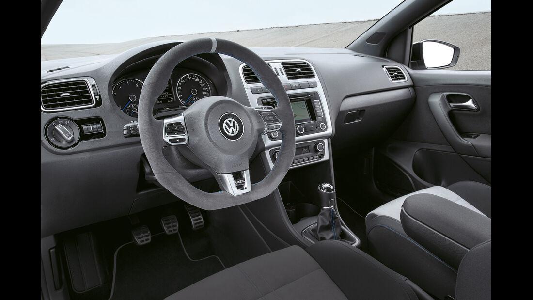 VW Polo R WRC, Cockpit, Lenkrad